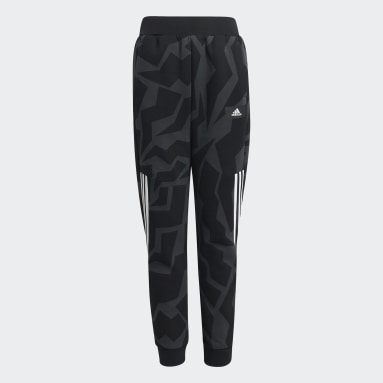 Youth Training Grey Future Icons 3-Stripes Tapered-Leg Pants