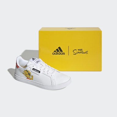 Zapatilla Courtpoint Base The Simpsons Blanco Mujer Tenis