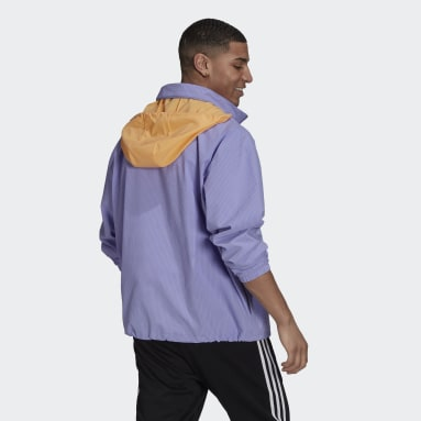 Men Originals Purple 1/4 Zip Jacket