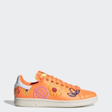 Dames Originals oranje Stan Smith Schoenen