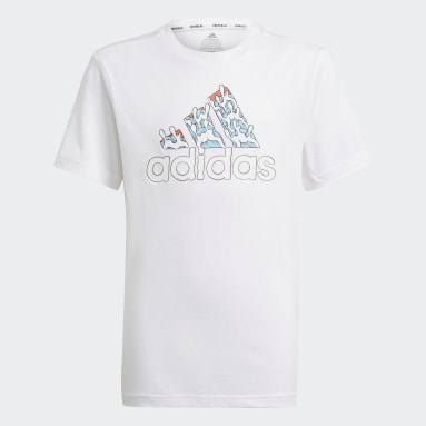 T-shirt Aaron Kai x adidas Graphic Blanc Garçons Fitness Et Training