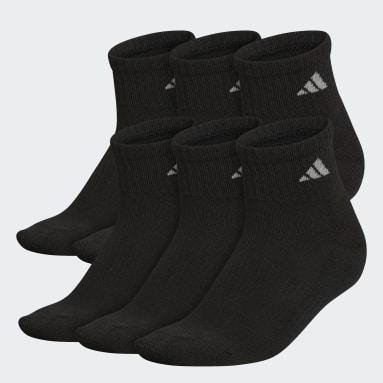 Women's Training Black Athletic Quarter Socks 6 Pairs