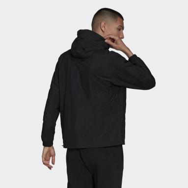 Corta Viento Adicolor Trifolio Cortado Negro Hombre Originals