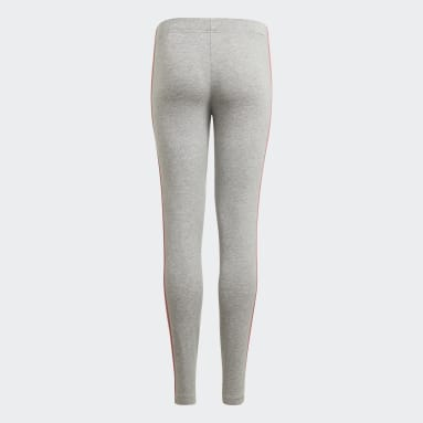 Meisjes Sportswear Grijs adidas Essentials 3-Stripes Legging