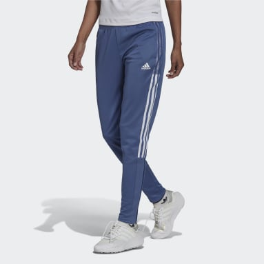 Women Cricket Blue Tiro Track Pants