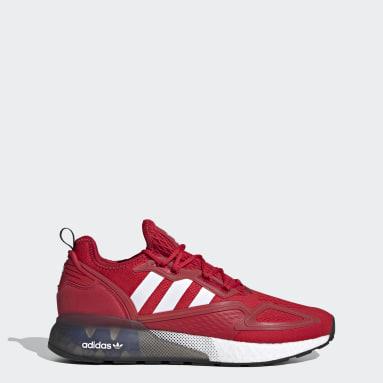 Men Originals Red ZX 2K Boost Shoes
