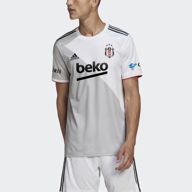 Men Football White Beşiktaş JK 20/21 Home Jersey