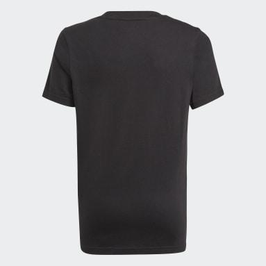 Youth 8-16 Years Sportswear Black adidas Essentials 3-Stripes T-Shirt