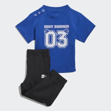 Infants ไลฟ์สไตล์ สีน้ำเงิน เสื้อยืดและกางเกงขายาว adidas x Disney