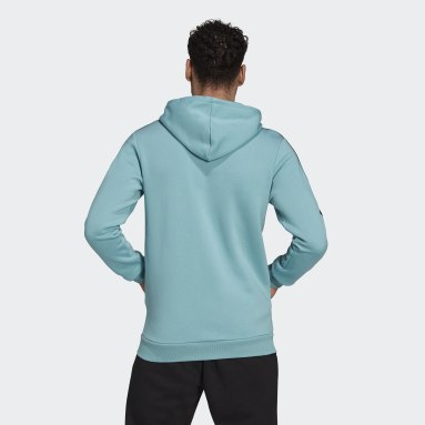 Mænd Sportswear Grøn Essentials Fleece 3-Stripes Full-Zip hættetrøje