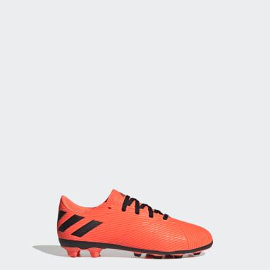 Jongens Voetbal Oranje Nemeziz 19.4 Flexible Ground Voetbalschoenen