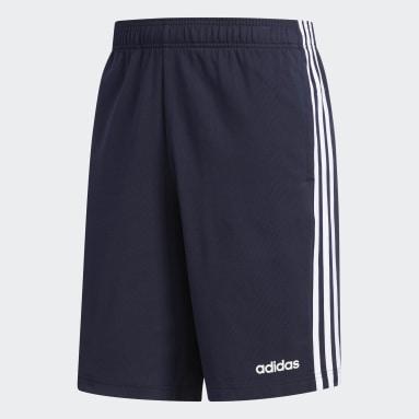 Shorts 3 Tiras Azul Hombre Diseño Deportivo