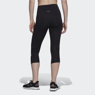 ผู้หญิง วิ่ง สีดำ กางเกงเลกกิ้งสามส่วนสำหรับวิ่ง Own The Run
