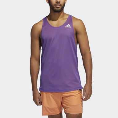 Men Gym & Training Purple For the Oceans Primeblue Tank Top