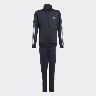 Boys Gym & Training Blue 3-Stripes Team Tracksuit
