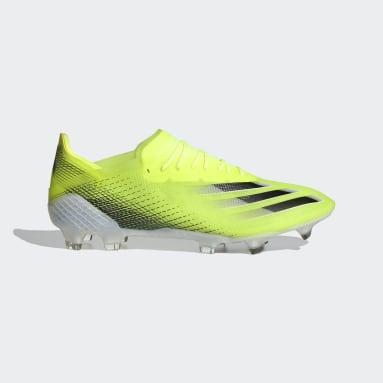 Bota de fútbol X Ghosted.1 césped natural seco Amarillo Fútbol
