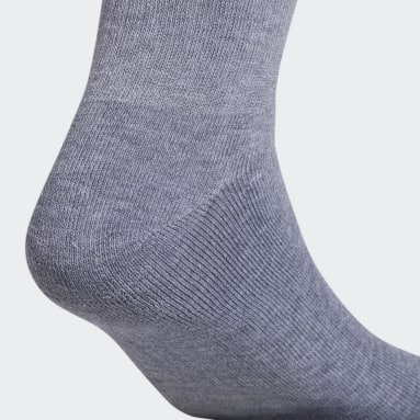 Men's Originals Grey Trefoil Crew Socks 6 Pairs