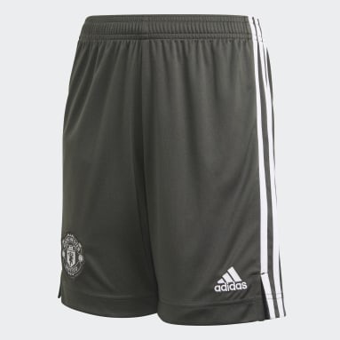 Kids Football Grey Manchester United Away Shorts
