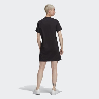 Women's Originals Black Adicolor Classics Roll-Up Sleeve Tee Dress