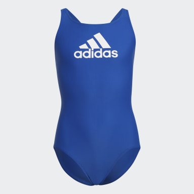 Girls Swimming Blue Badge of Sport Swimsuit