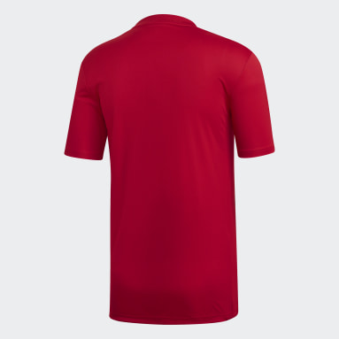 Men's Soccer Red Striped 19 Jersey