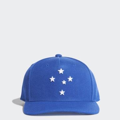 Boné Aba Reta Cruzeiro Azul Futebol