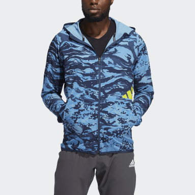 Men's Training Blue FreeLift Camouflage Training Hoodie