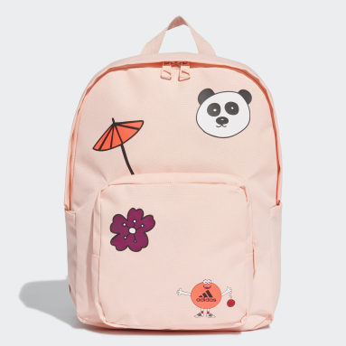 Girls Running Pink Cleofus Graphic Classic Backpack