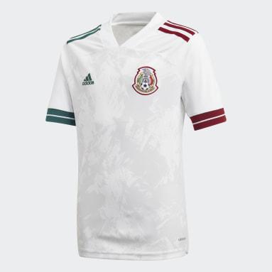 Jersey Visitante Selección Nacional de México Blanco Niño Fútbol