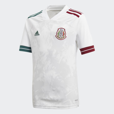 Youth Soccer White Mexico Away Jersey