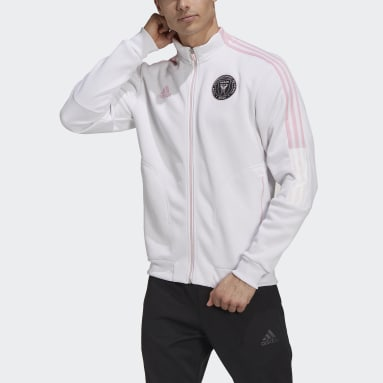 Men's Soccer White Inter Miami CF Anthem Jacket