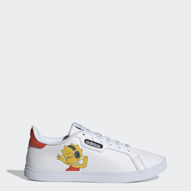 Frauen Tennis Courtpoint Base The Simpsons Schuh Weiß