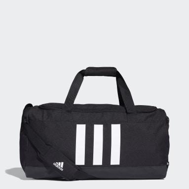 Lifestyle Black Essentials 3-Stripes Duffel Bag Medium