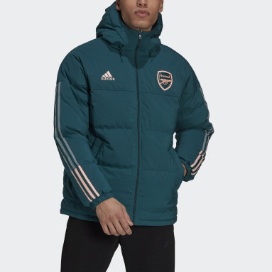 Men Football Green Arsenal Reversible Down Travel Jacket
