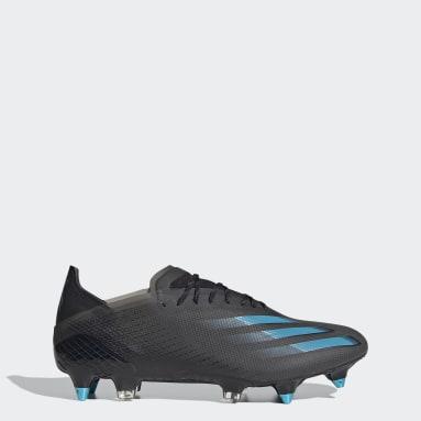 Bota de fútbol X Ghosted.1 césped natural húmedo Negro Fútbol
