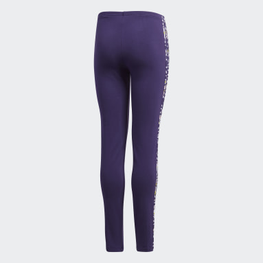 Girls Originals Purple Leggings