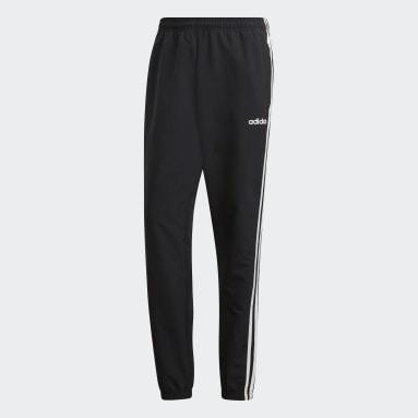 Men Lifestyle Black Essentials 3-Stripes Wind Pants