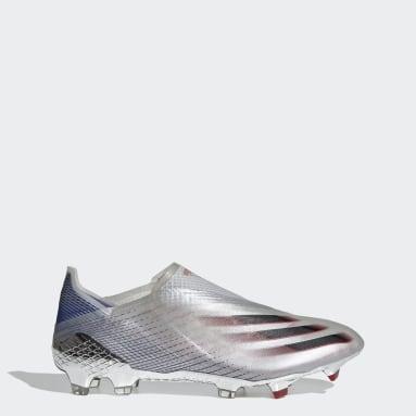 Fußball X Ghosted+ FG Fußballschuh Silber