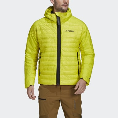 Men's TERREX Yellow Terrex MYSHELTER Down Hooded Jacket