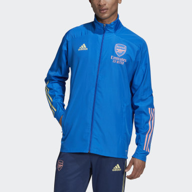 Men Football Blue Arsenal Presentation Jacket