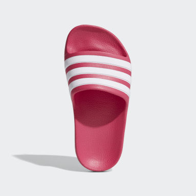 Kids Swimming Burgundy Adilette Aqua Slides