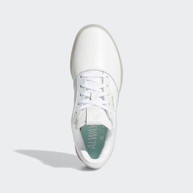 Women Golf White Adicross Retro Spikeless Shoes