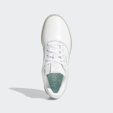 Ženy Golf bílá Boty Adicross Retro Spikeless