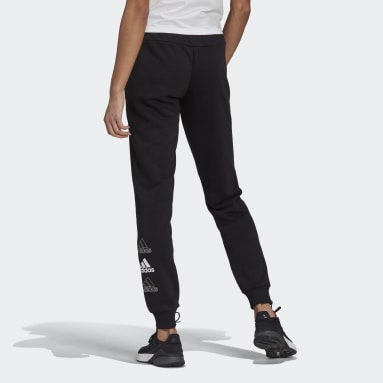 Women Sportswear Black adidas Essentials Stacked Logo Pants