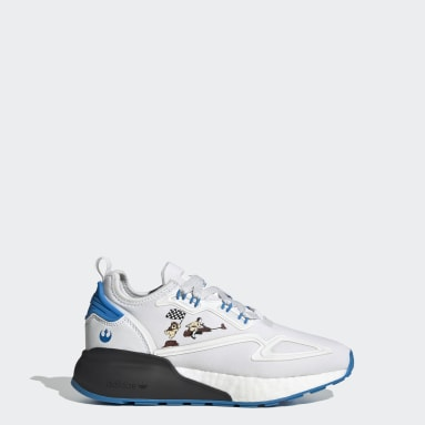 Youth Originals White ZX 2K Boost Star Wars Shoes