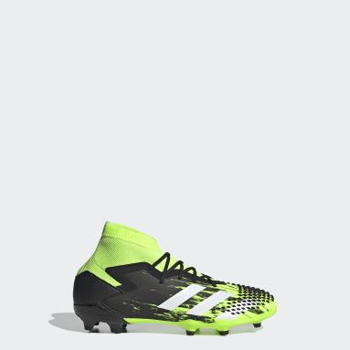 Boys Football Green Predator Mutator 20.1 Firm Ground Boots