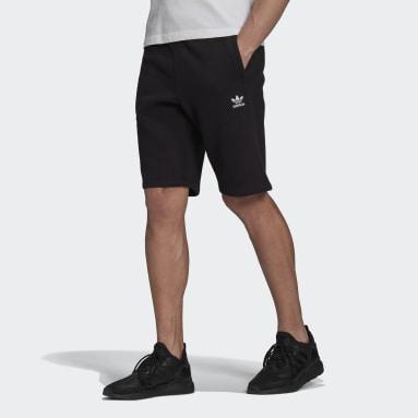 Men Originals Black Adicolor Essentials Trefoil Shorts