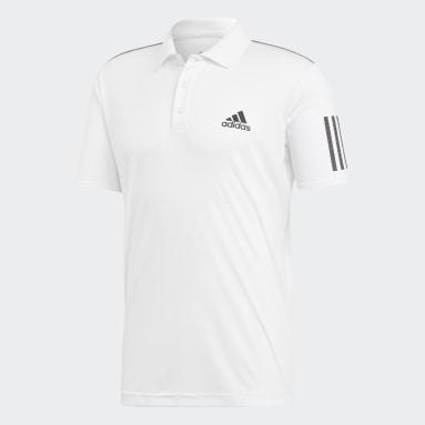 Polera Cuello Polo 3 Tiras Club Blanco Hombre Tenis