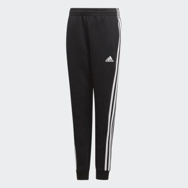 Jongens Fitness En Training Zwart Must Haves 3-Stripes Broek