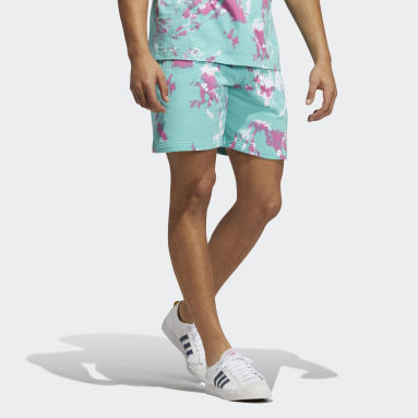 Men's Originals Green All Day I Dream About Tie-Dye Shorts